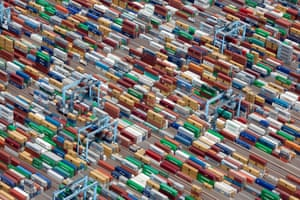 Shipping containers, Portsmouth, Virginia, USA 2011