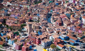 Brightly painted houses, Burano, Italy 2010