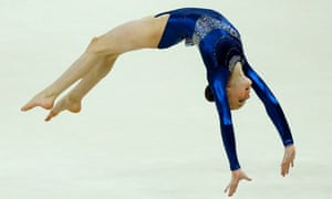 Gymnast Rebecca Tunney from Britain performs during the 2012 Summer Olympics