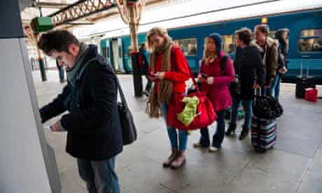 University students buy train tickets to leave Aberystwyth before expected floods