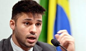 David Miranda testifies before the investigative committee of the US Senate in Brasilia, 9 October