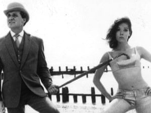 Patrick Macnee, as John Steed, and Diana Rigg as Emma Peel