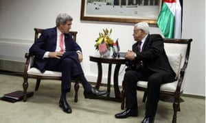 John Kerry and Mahmoud Abbas
