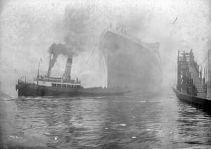 Before the war: Britannic Launch