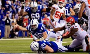 Andrew Luck's recovery of the Indianapolis Colts' own fumble for a touchdown was one of the key moments in their 45-44 comeback win over the Kansas City Chiefs, the second biggest comeback in NFL Playoff history.