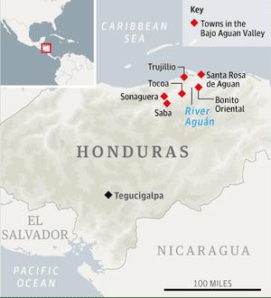Map - Aguan Valley, Honduras