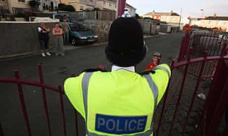 PC Marc Griffin patrols the Close Hill estate in Redruth, Cornwall