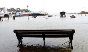 On Sunday the River Stour bursts its banks in Christchurch, Dorset.