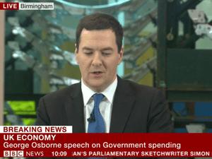 George Osborne delivering his speech
