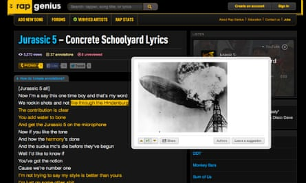 Music fans can find Rap Genius' annotated lyrics on Google again.