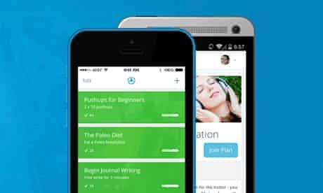Lift app on smartphone