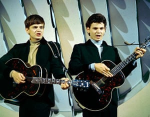 Phil Everly: Everly Brothers, Phil and Don performing on TV in the 1960s
