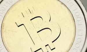 A physical bitcoin.