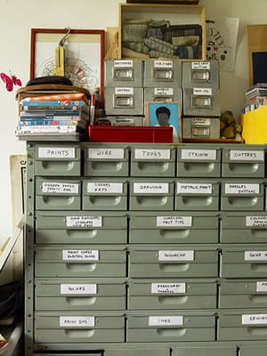 Homes - Hollicks House: filing cabinets in house