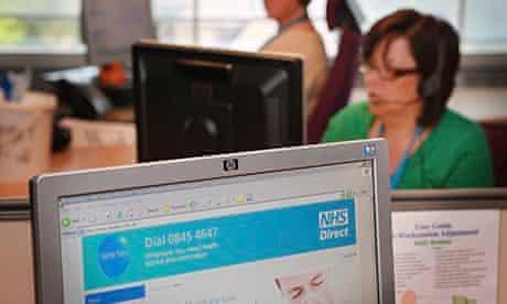 Gordon Brown Visits An NHS Direct Site