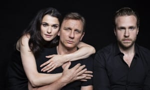Rachel Weisz, Daniel Craig and Rafe Spall, stars of Harold Pinter's Betrayal at the Ethel Barrymore theatre in New York.