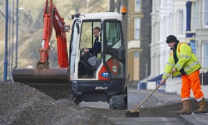 A major clean up operation is underway in Aberystwyth town after the worst storms to affect the Welsh coastline in 15 years.