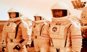 Actors as astronauts in the 2000 film Mission to Mars.