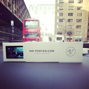 Watching Mr Porter style tv in the LCM car between shows