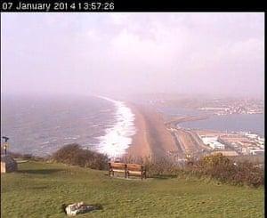 Screengrab from Chesil beach webcam