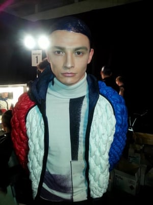 Tyler Rix backstage at James Long (Tyler was the last torch bearer at the Olympics, he lit the cauldron!)
