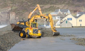 A clean-up operation is underway at Newgale Beach in Pembrokeshire.