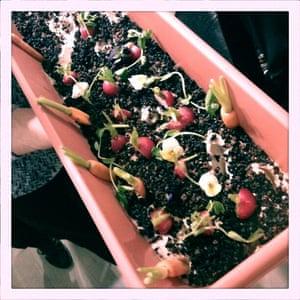 Edible garden for luncheon at Nicole Farhi