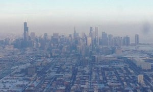Chicago during the polar vortex on 7 January 2014.