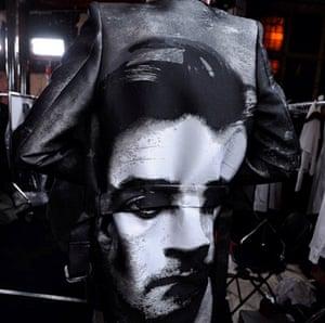 Oliver Bernard portrait coat at Alexander McQueen