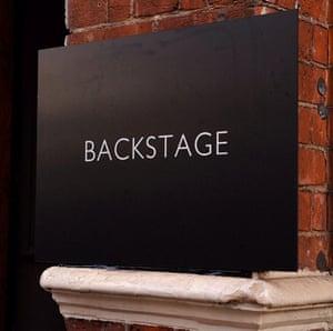 Backstage at Alexander Mcqueen