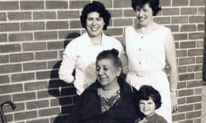 Michele Benn, aged three, with her grandmother, Emma – Nona – in 1964
