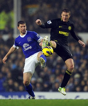 Hitzlsperger: Everton v Wigan Athletic - Premier League