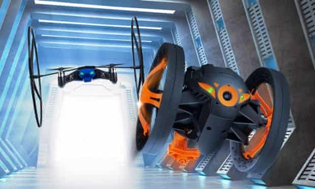 Parrot mini drone and juming sumo