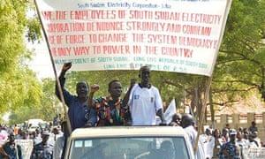 South Sudan peace march