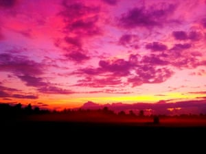 New Brunsick sunset after a violent storm near Maquapit lake