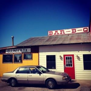 Roadside barbecue joint en route from Houston to Austin