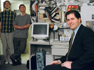 Michael Dell, sits in a dorm room at the University of Texas