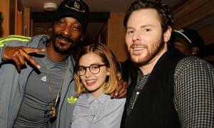 Rapper Snoop Dogg, singer-songwriter Alexandra Lenas, and entrepreneur Sean Parker