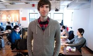 David Karp in the Tumblr headquarters