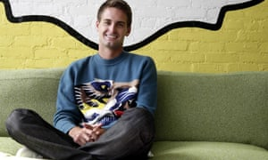 Evan Spiegel photographed in the Snapchat offices