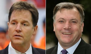 Nick Clegg and Ed Balls