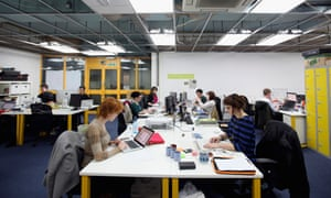 startups working - The Silicon Roundabout In Old Street
