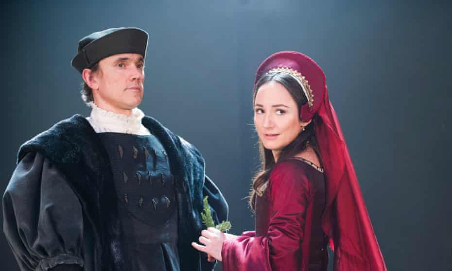 Ben Miles (Thomas Cromwell) and Lydia Leonard (Anne Boleyn) in the RSC's new production of Wolf Hall.