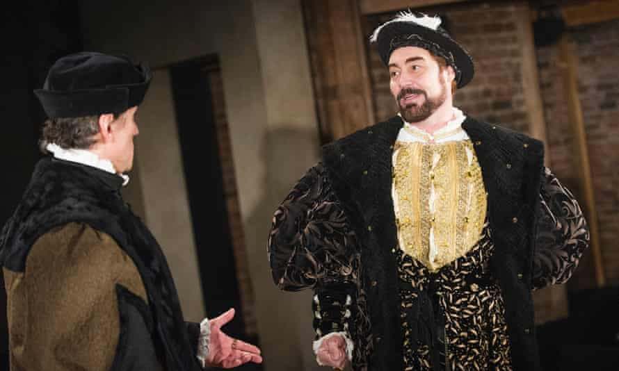 Ben Miles (Thomas Cromwell) and Nathaniel Parker (Henry Vlll) in Bring Up The Bodies.