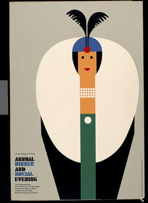 Tom Eckersley: Tom Eckersley Poster promoting the 'Annual Dinner and Social Evening'