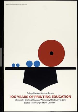 Tom Eckersley: Tom Eckersley 100 years of printing education poster