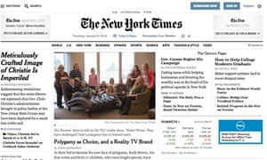New York Times website redesign