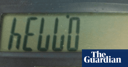 Words You Can Write On A Calculator Education The Guardian