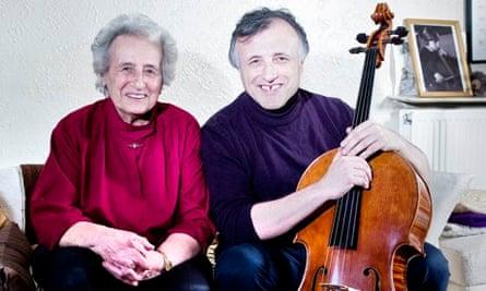 Cellists Anita Lasker-Wallfisch and her son Raphael