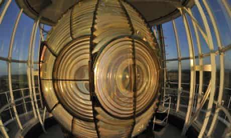 Fresnel lens in a lighthouse. 2011.